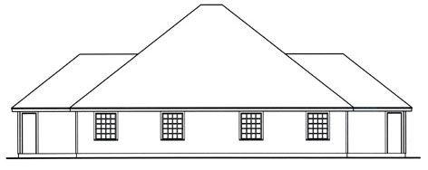 Country Rear Elevation of Plan 79244