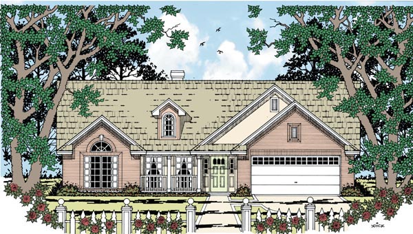 Country Traditional House Plan 79246 Elevation
