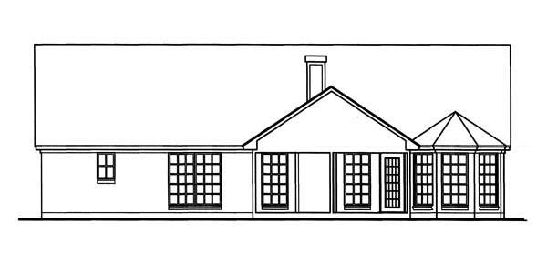 Country Traditional House Plan 79246 Rear Elevation