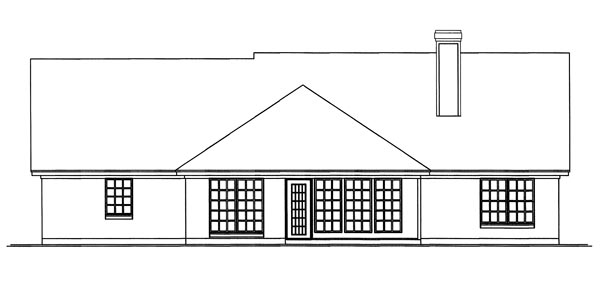 Country House Plan 79250 Rear Elevation