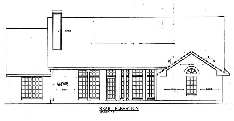 Country House Plan 79252 Rear Elevation