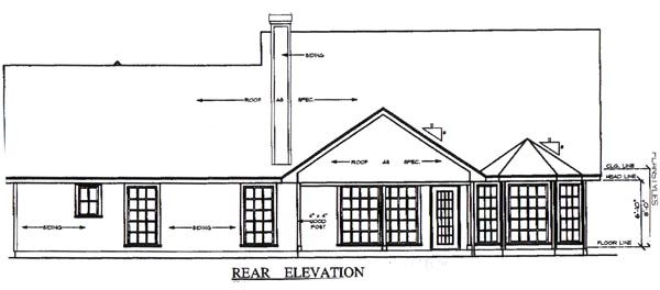 Country House Plan 79254 Rear Elevation