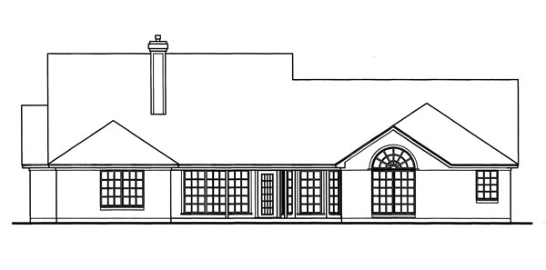 Country House Plan 79255 Rear Elevation