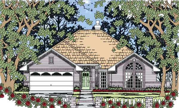 European Traditional House Plan 79260 Elevation