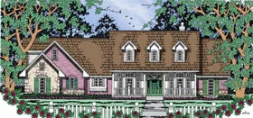 Country House Plan 79266 with 4 Beds, 3 Baths, 2 Car Garage Elevation