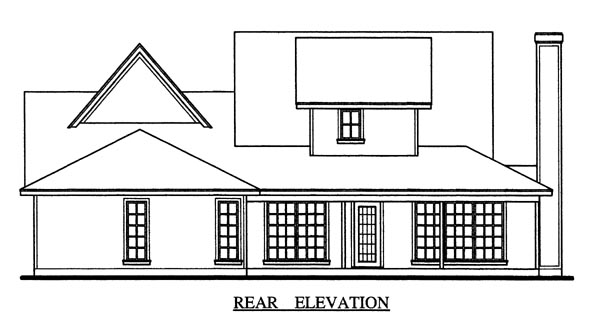 Country Farmhouse House Plan 79267 Rear Elevation