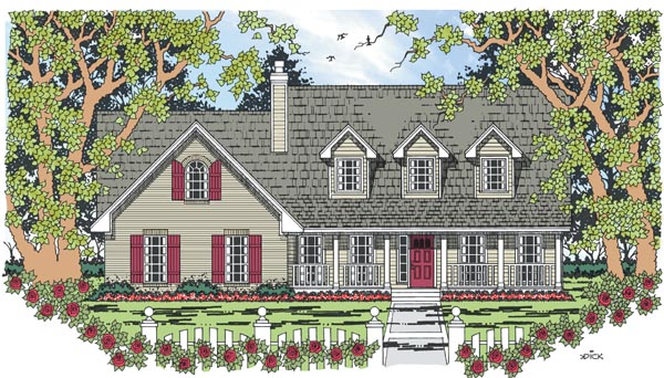 Cape Cod Country House Plan 79268 Elevation