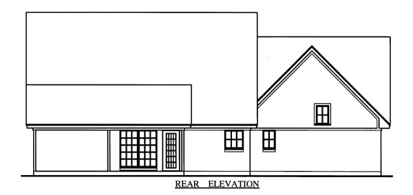 Cape Cod , Country House Plan 79268 with 3 Beds, 3 Baths, 2 Car Garage Rear Elevation