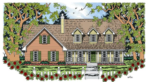 Cape Cod Country House Plan 79269 Elevation
