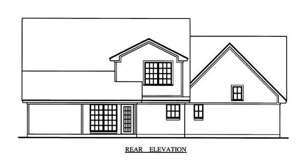 Cape Cod Country House Plan 79269 Rear Elevation