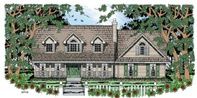 Cape Cod , Country House Plan 79270 with 3 Beds, 3 Baths, 2 Car Garage Elevation
