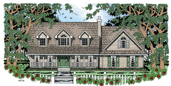Cape Cod Country House Plan 79270 Elevation