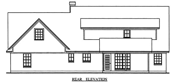 Cape Cod Country House Plan 79271 Rear Elevation