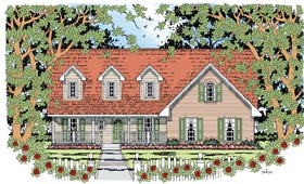 Cape Cod Country House Plan 79272 Elevation