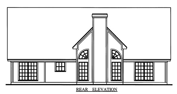 Cape Cod Country House Plan 79272 Rear Elevation