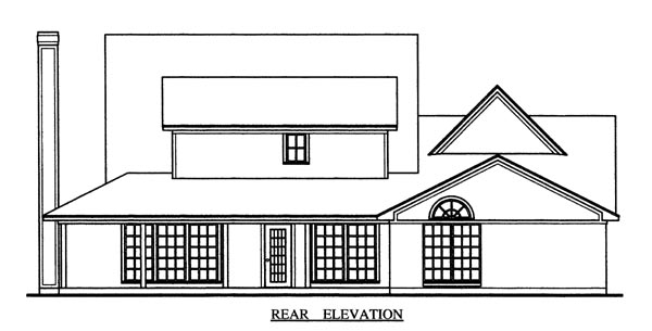 Country House Plan 79274 Rear Elevation