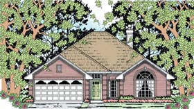House Plan 79276 | Style Plan with 1701 Sq Ft, 4 Bedrooms, 2 Bathrooms, 2 Car Garage Elevation