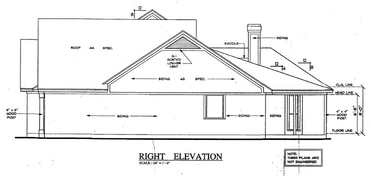 Country, One-Story House Plan 79284 with 4 Beds, 2 Baths, 2 Car Garage Picture 1