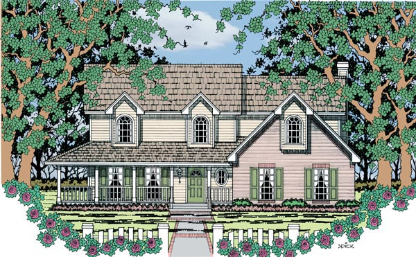 Country House Plan 79288 Elevation