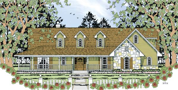 Country House Plan 79290 Elevation