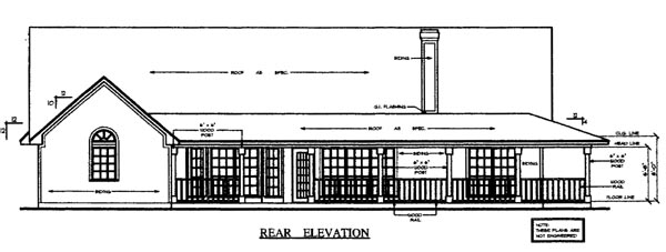 Country House Plan 79290 Rear Elevation