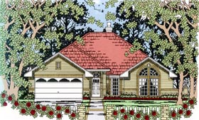 Traditional House Plan 79296 with 4 Beds, 2 Baths, 2 Car Garage Elevation