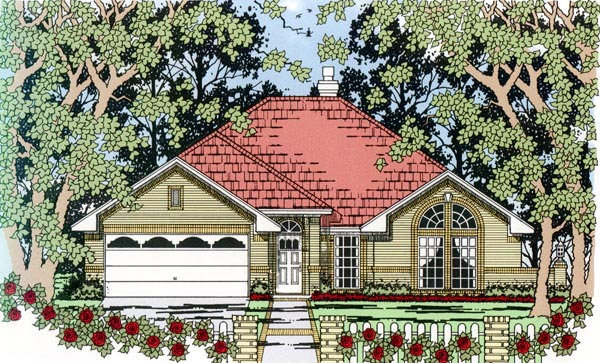 Traditional House Plan 79296 Elevation