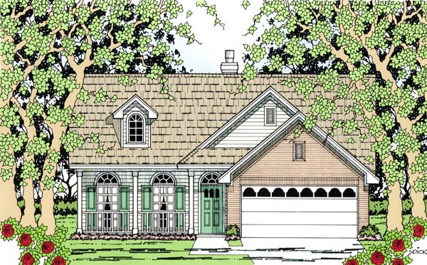 Country House Plan 79297 Elevation