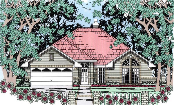 Traditional House Plan 79298 Elevation
