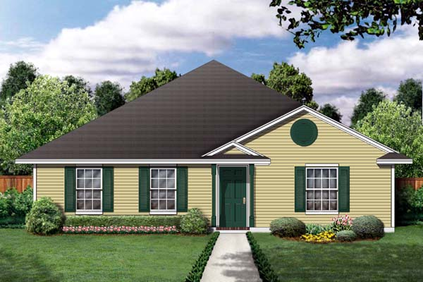 Traditional House Plan 79301 Elevation