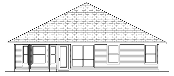 Traditional House Plan 79301 Rear Elevation