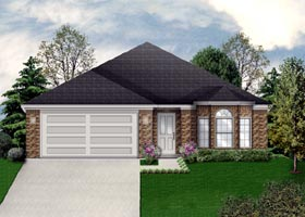 Traditional House Plan 79302 with 3 Beds, 2 Baths, 2 Car Garage Elevation