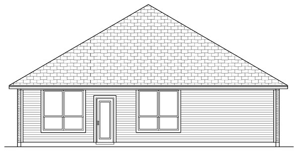 Traditional House Plan 79302 Rear Elevation