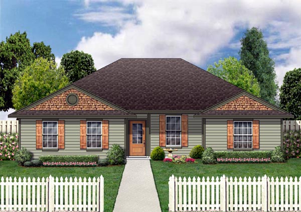 Country Farmhouse Ranch House Plan 79303 Elevation