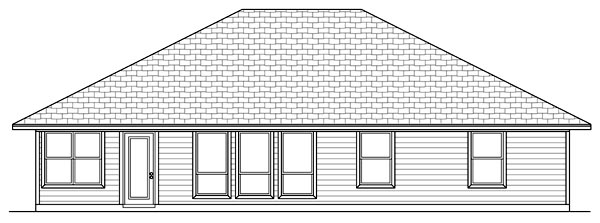 Country Farmhouse Ranch House Plan 79303 Rear Elevation