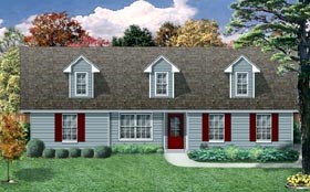 Farmhouse House Plan 79304 with 3 Beds, 2 Baths, 2 Car Garage Elevation