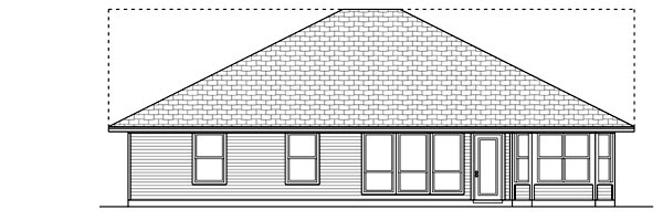 Farmhouse Rear Elevation of Plan 79304