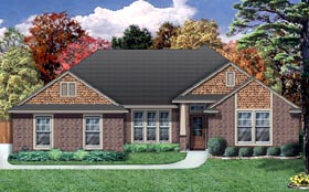 House Plan 79305 | Craftsman Traditional Style Plan with 1988 Sq Ft, 4 Bedrooms, 2 Bathrooms, 2 Car Garage Elevation