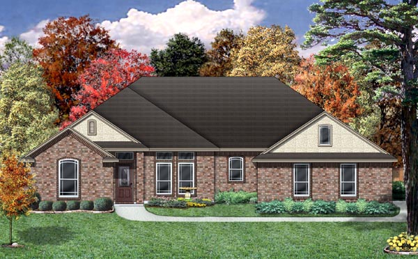 Traditional House Plan 79306 Elevation