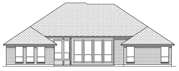 Traditional House Plan 79307 Rear Elevation