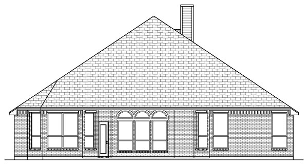 Traditional House Plan 79308 Rear Elevation