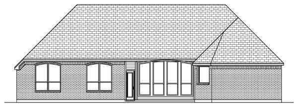 European House Plan 79309 Rear Elevation