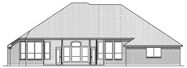 Traditional House Plan 79310 Rear Elevation