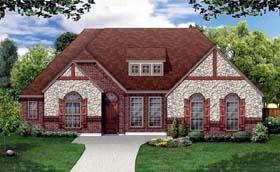 European Tudor House Plan 79312 Elevation