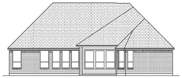 European Tudor House Plan 79313 Rear Elevation