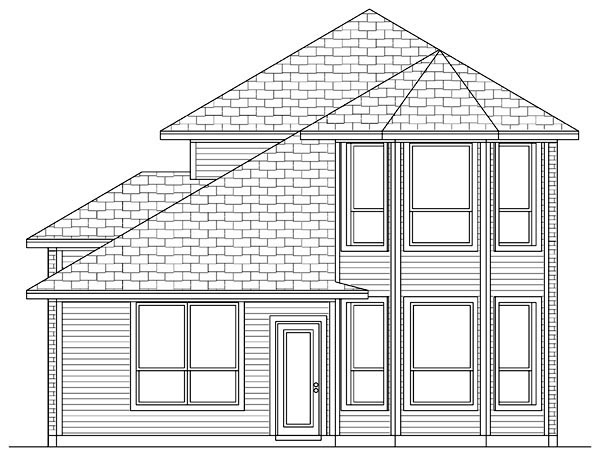 Traditional House Plan 79318 Rear Elevation