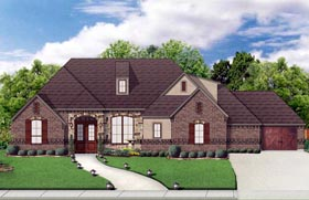 House Plan 79321 | European Traditional Style Plan with 2766 Sq Ft, 4 Bedrooms, 3 Bathrooms, 3 Car Garage Elevation