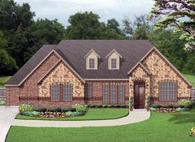 European Traditional House Plan 79322 Elevation