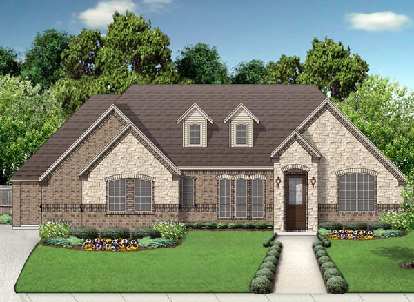 European Traditional House Plan 79323 Elevation