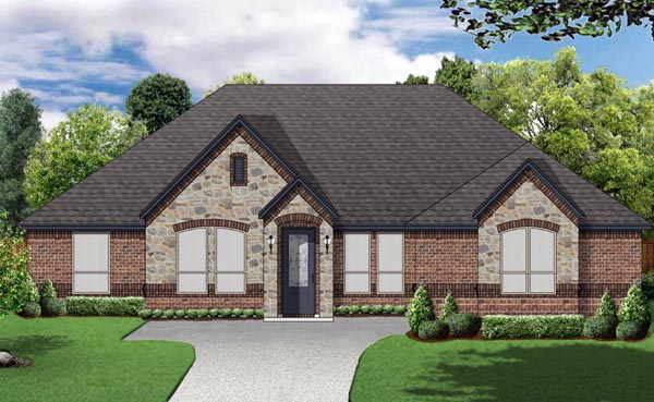 European Traditional House Plan 79324 Elevation